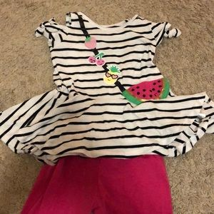 Watermelon shirt outfit - 4T